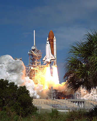 STS-26 - STS-26 launches from Kennedy Space Center, 29 September 1988.