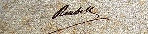 Jean-François Rewbell - Jean-François Reubell signed