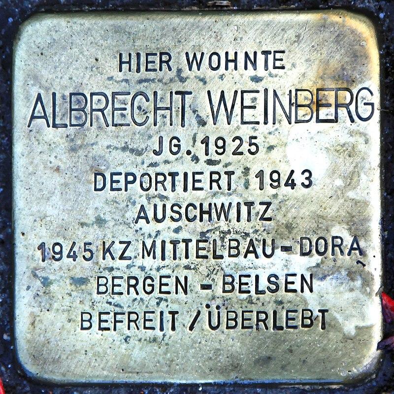 Rhauderfehn - Untenende - 74 - Stolpersteine Weinberg, Albrecht 01 ies