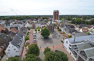 Rheinberg Place in North Rhine-Westphalia, Germany