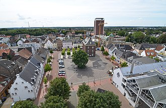 Rheinberg - Historic market square, view from St. Peter Church