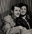 Richard Long and Suzan Ball, 1954.jpg