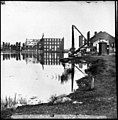 Richmond, Va. Ruined buildings on banks of the Canal Basin LOC cwpb.02682.jpg