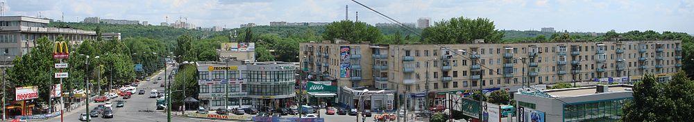Panoramo de la kvartalo Rîşcani
