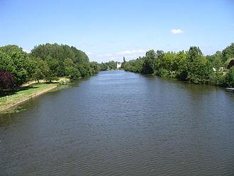 Sarthe (river) - The navigable river Sarthe between Morannes and Chemiré-sur-Sarthe