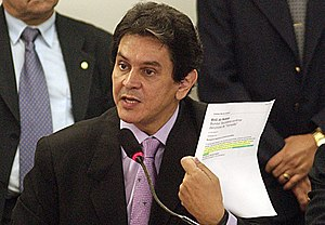 Mensalão scandal - Roberto Jefferson was the whistleblower of the corruption scheme.