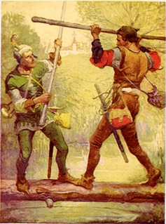 Little John legendary character from the Robin Hood legend