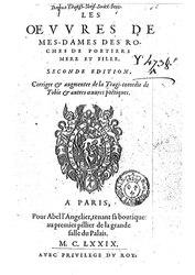 Les oeuvres de Mesdames Des Roches, de Poitiers, mère et fille (2e édition, corrigée et augmentée de La tragi-comédie de Tobie et autres oeuvres poétiques)