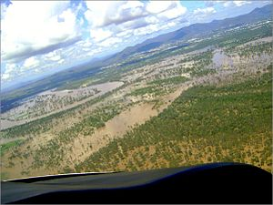 Fitzroy River (Queensland) - Image: Rockhampton in flood 2