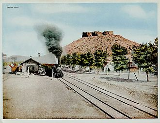 Castle Rock, Colorado - The Denver and Rio Grande Railway's Castle Rock depot (1917)