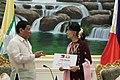 Rodrigo Duterte and Burmese State Counsellor Aung San Suu Kyi 02.jpg