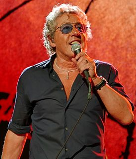 Roger Daltrey English lead vocalist of The Who