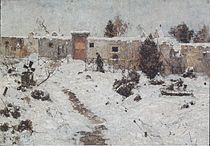 Friedhof im Winter, ca1893