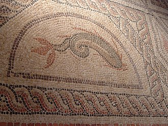 Venta Belgarum - Roman mosaic found locally, now in the Winchester museum