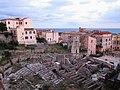 Roman Theatre and square Piazza Municipio of Terracina (LT), Lazio, Italy. 2020-07-17.jpg