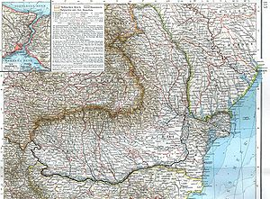 Romanian Old Kingdom - 1901 German map of the Old Kingdom