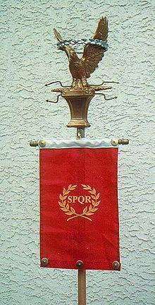 Roman standard with SPQR