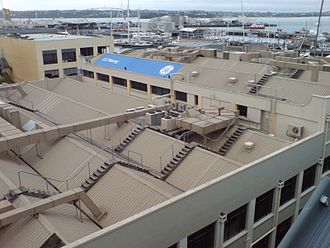 Physical plant - Air conditioning and exhaust plant on a roof in Auckland, New Zealand