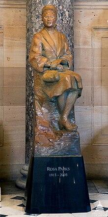 Estatua de Rosa Parks de Eugene Daub (2013), en el National Statuary Hall, Capitolio de los Estados Unidos