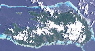 Rossel Island - Rossel as seen from space.