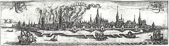 Rostock's fire in 1677