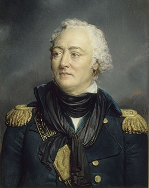 Louis-René Levassor de Latouche Tréville - Portrait of Latouche-Tréville as a Rear-Admiral, in 1792. Louis-Philippe commissioned the painting for the History Museum of Versailles in 1835;Georges Rouget painted it in 1840.