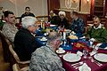 Royal Moroccan Army officers dine with U.S. Service members in the flag mess of the amphibious assault ship USS Iwo Jima (LHD 7) April 16, 2012, while under way in the Atlantic Ocean off the Moroccan coast 120416-N-QM601-024.jpg