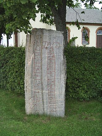 Grästorp Municipality - Runestone by Sal church