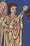 12th century instrument from the rylands beatus