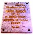 Sándor Bródy plaque. - 16 Kossuth Street, Eger.jpg