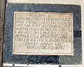 S.m. maddalena de' pazzi, portico, targa restauri italia 1710.JPG