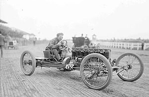 Carl G. Fisher - Fisher at the Harlem racetrack, near Chicago, Illinois