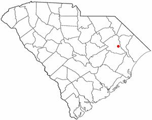 Pamplico, South Carolina - Image: SC Map doton Pamplico