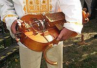 Slovakian-style hurdy gurdy (Ninera) made and played by Tibor Koblicek