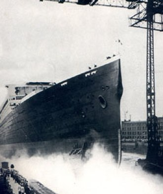 RMS Majestic (1914) - The launch of Bismarck.