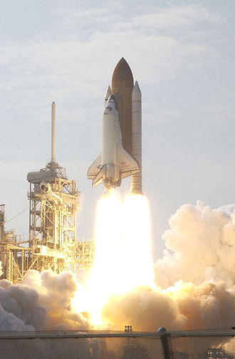 STS-111 - STS-111 launches from Kennedy Space Center, 5 June 2002.
