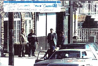 Sammy Gravano - FBI surveillance photograph of Gravano, Louis Saccenti, Thomas Carbonaro and John Gammerano