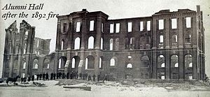 Saint Anselm College - Alumni Hall after the fire of 1892