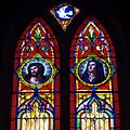 Saint Rose of Lima Church (New Lexington, Ohio) - interior, stained glass, Man of Sorrow and Mother of Sorrows.jpg