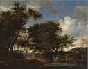 Salomon van Ruysdael - Landscape with Travellers Watering their Horses - KMS1810 - Statens Museum for Kunst.jpg