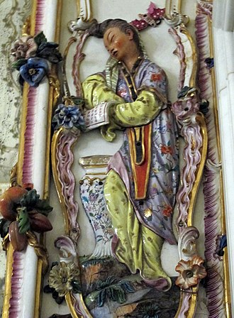 Capodimonte porcelain - Detail from the porcelain room now in the Palace of Capodimonte