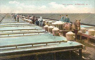 History of Syracuse, New York - Salt sheds c. 1908