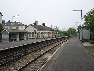 Cornwall Railway - Saltash station was rebuilt in the 1880s