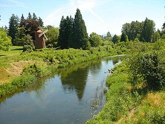Sammamish River - Sammamish River, near its headwaters in Marymoor Park, Redmond and Lake Sammamish