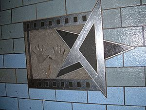 Sammo Hung - Hung's star, hand prints and autograph on the Avenue of Stars