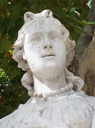 Sancha of León - 18th-century Statue in the Royal Palace of Madrid
