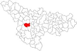 Vị trí của Sânmihaiu Român