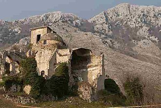 Battle of San Pietro Infine - The bombed-out center of the town of San Pietro Infine.