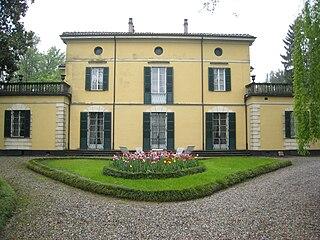Villa Verdi building in Villanova sullArda, Italy