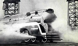 Santa Fe streamlined steam locomotive the Chief.JPG